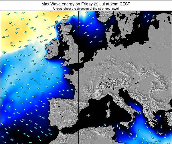 France Max Wave energy on Monday 27 May at 8am CEST