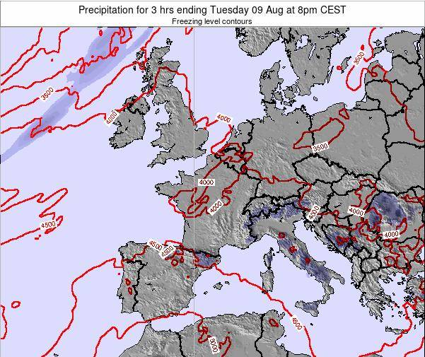 Netherlands Precipitation for 3 hrs ending Friday 24 May at 8pm CEST map