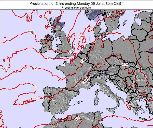 Liechtenstein Precipitation for 3 hrs ending Thursday 23 May at 8pm CEST map
