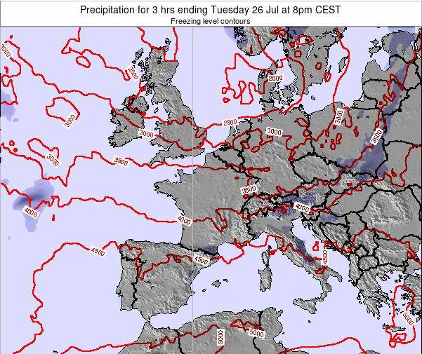 Netherlands Precipitation for 3 hrs ending Tuesday 21 May at 8am CEST map