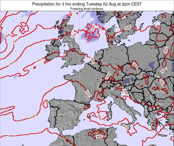 Liechtenstein Precipitation for 3 hrs ending Monday 27 May at 2pm CEST map