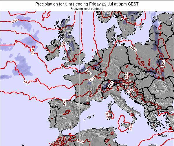 Netherlands Precipitation for 3 hrs ending Wednesday 22 May at 8pm CEST map