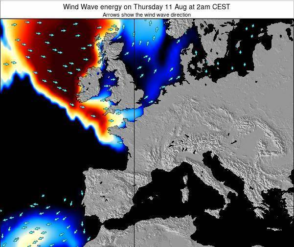 France Wind Wave energy on Friday 01 Aug at 8pm CEST