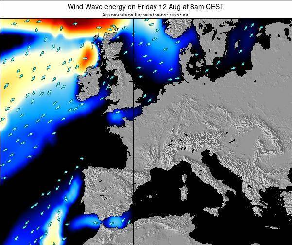Belgium Wind Wave energy on Monday 27 Oct at 2am CEST