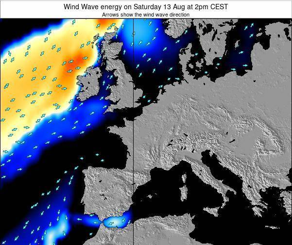 France Wind Wave energy on Friday 08 Aug at 2pm CEST