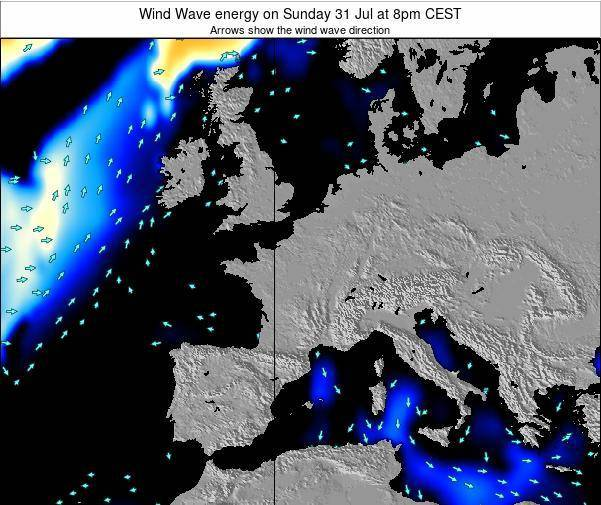 France Wind Wave energy on Monday 20 May at 8am CEST