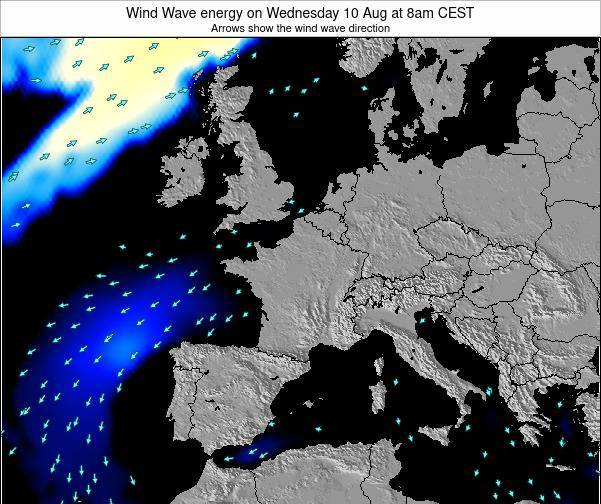 France Wind Wave energy on Friday 01 Jul at 2am CEST
