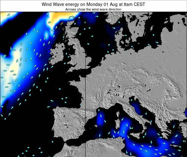 France Wind Wave energy on Saturday 02 Aug at 2pm CEST