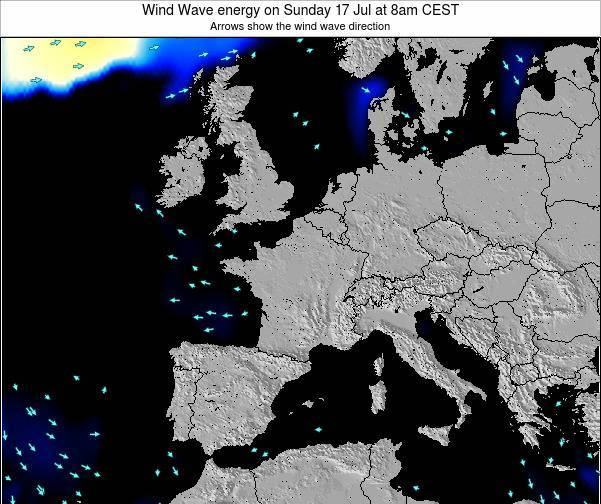 France Wind Wave energy on Wednesday 03 Sep at 2am CEST