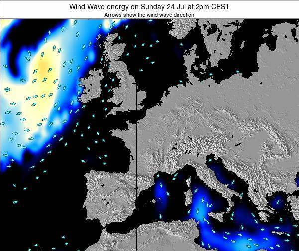 France Wind Wave energy on Friday 01 Aug at 2am CEST