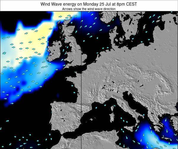 Netherlands Wind Wave energy on Saturday 25 May at 8am CEST