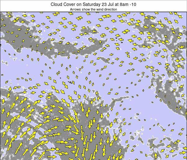 French Polynesia Cloud Cover on Saturday 18 May at 8am TAHT