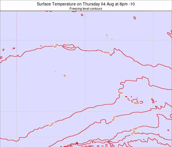 French Polynesia Surface Temperature on Wednesday 19 Jun at 8pm TAHT map