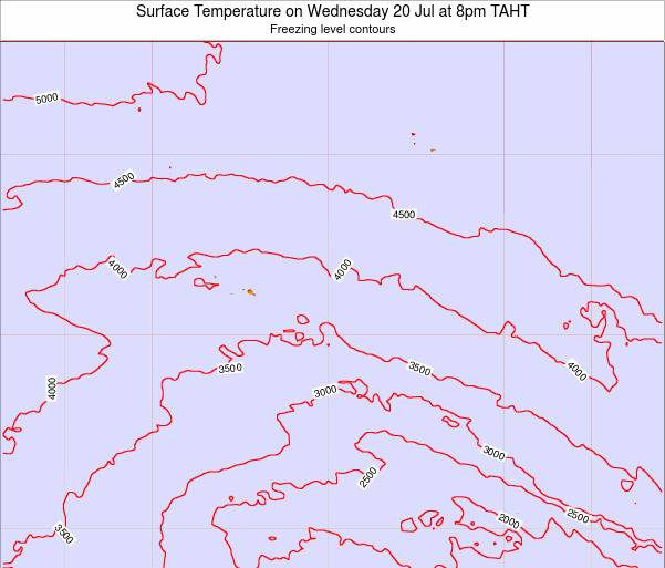 French Polynesia Surface Temperature on Saturday 25 May at 8am TAHT