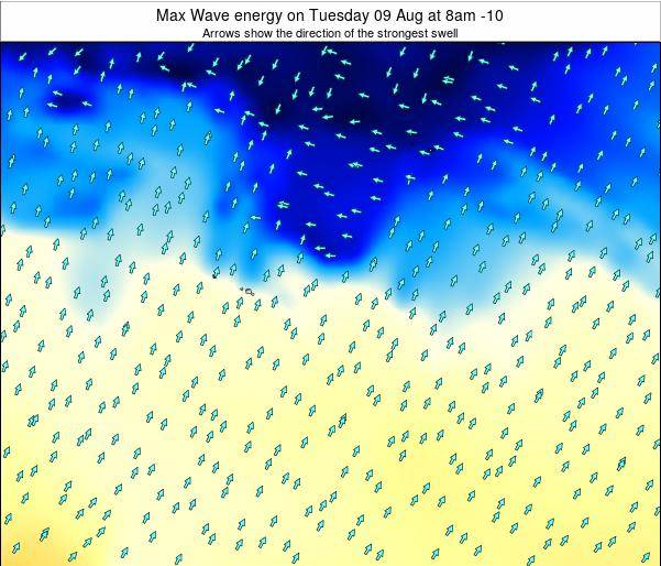 French Polynesia Max Wave energy on Wednesday 27 Aug at 8am TAHT