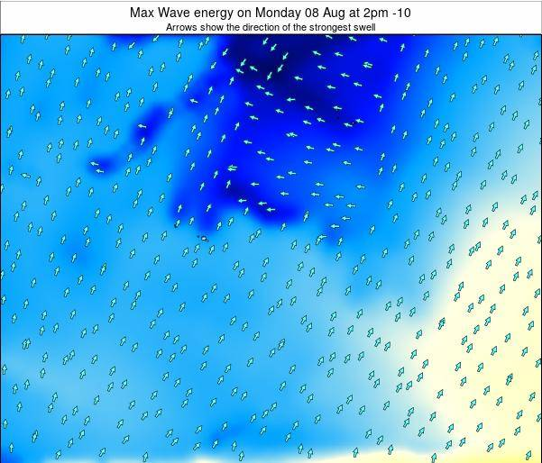 French Polynesia Max Wave energy on Saturday 07 May at 8pm TAHT
