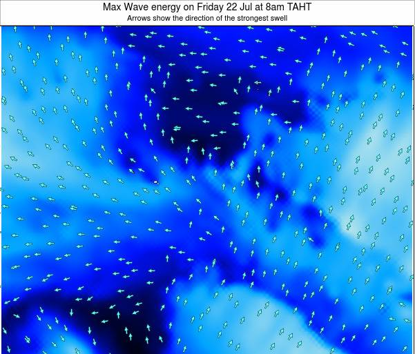 French Polynesia Max Wave energy on Monday 28 Jul at 8am TAHT