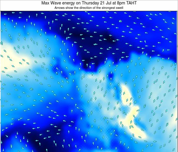 French Polynesia Max Wave energy on Thursday 03 Nov at 2pm TAHT