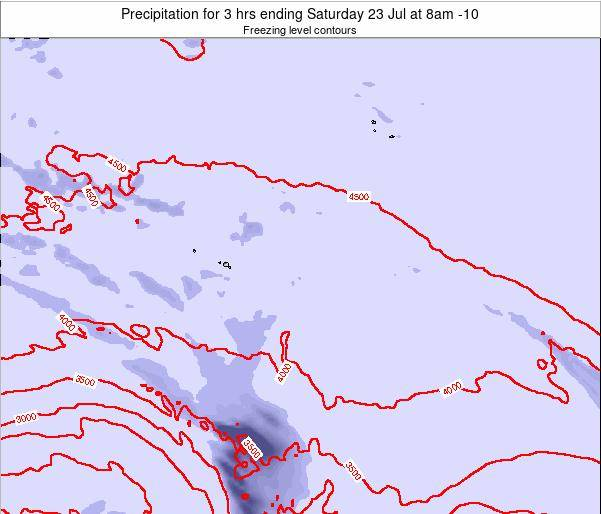 French Polynesia Precipitation for 3 hrs ending Monday 17 Jun at 2pm TAHT