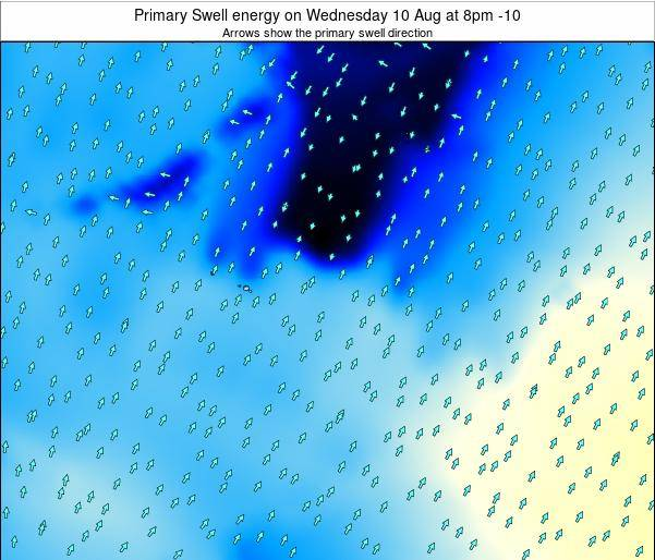 French Polynesia Primary Swell energy on Monday 27 May at 8am TAHT