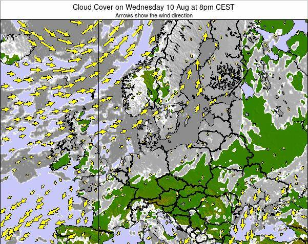 Germany Cloud Cover on Thursday 24 Apr at 8am CEST