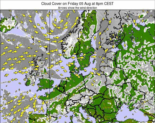 Germany Cloud Cover on Sunday 26 May at 8pm CEST