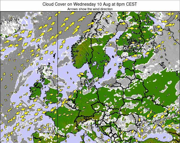 Germany Cloud Cover on Tuesday 28 May at 8am CEST