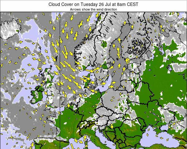 Germany Cloud Cover on Thursday 23 May at 8am CEST