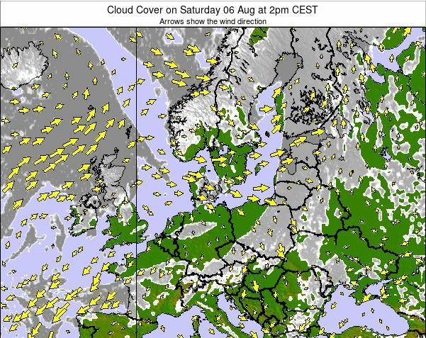 Germany Cloud Cover on Sunday 26 May at 2pm CEST