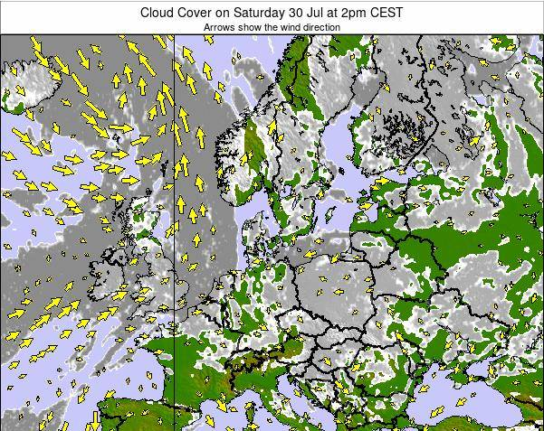 Germany Cloud Cover on Friday 24 May at 8pm CEST map