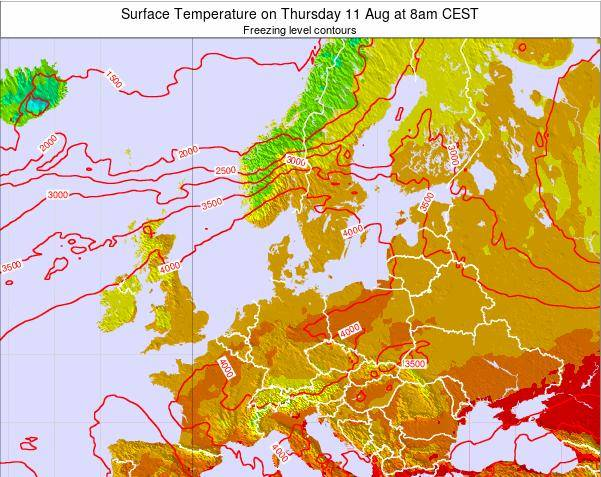 Germany Surface Temperature on Sunday 30 Sep at 8pm CEST map