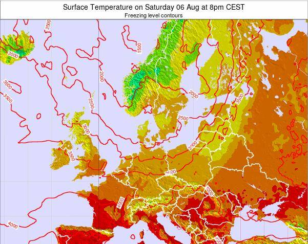 Germany Surface Temperature on Thursday 18 Oct at 8am CEST map