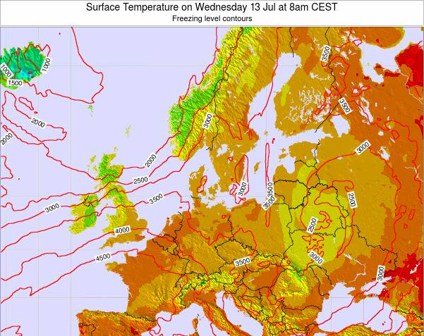 Germany Surface Temperature on Thursday 23 May at 2am CEST