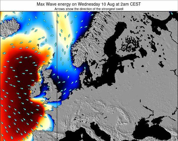 Germany Max Wave energy on Tuesday 05 Aug at 8pm CEST