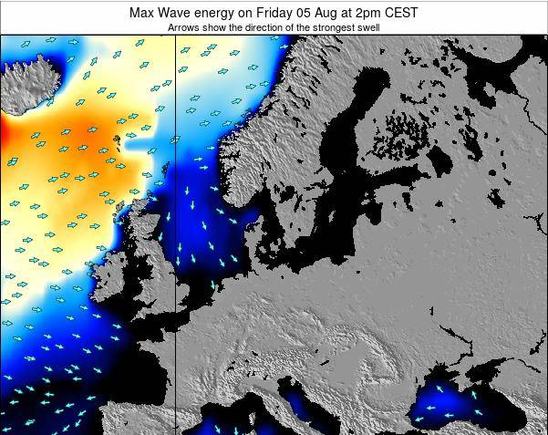 Germany Max Wave energy on Monday 10 Mar at 7pm CET