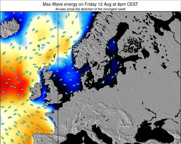Germany Max Wave energy on Tuesday 25 Jun at 2pm CEST