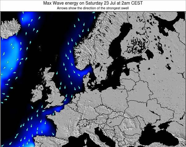 Germany Max Wave energy on Sunday 15 Dec at 7am CET