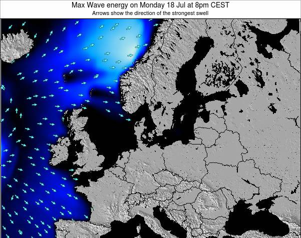 Germany Max Wave energy on Thursday 30 Jul at 2pm CEST