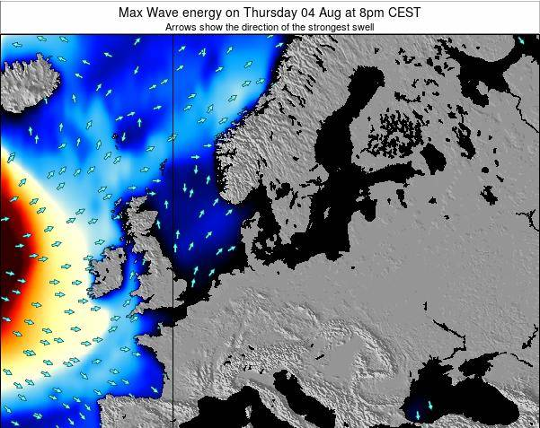 Germany Max Wave energy on Wednesday 02 Dec at 1am CET