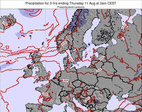 Germany Precipitation for 3 hrs ending Wednesday 30 Jul at 8am CEST map