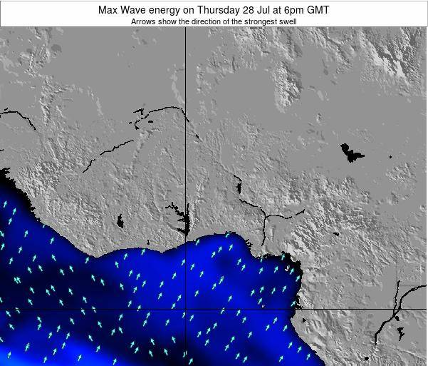 Togo Max Wave energy on Monday 27 May at 12pm GMT