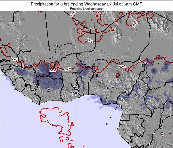 Togo Precipitation for 3 hrs ending Thursday 23 May at 6am GMT map