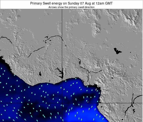 Ghana Primary Swell energy on Thursday 17 Apr at 12pm GMT