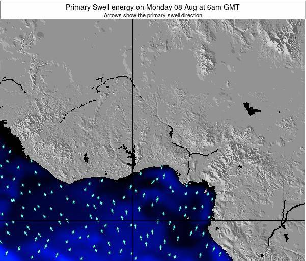 Ghana Primary Swell energy on Friday 21 Jun at 12pm GMT