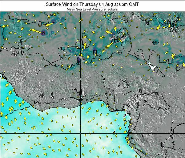 Togo Surface Wind on Wednesday 29 Mar at 12am GMT
