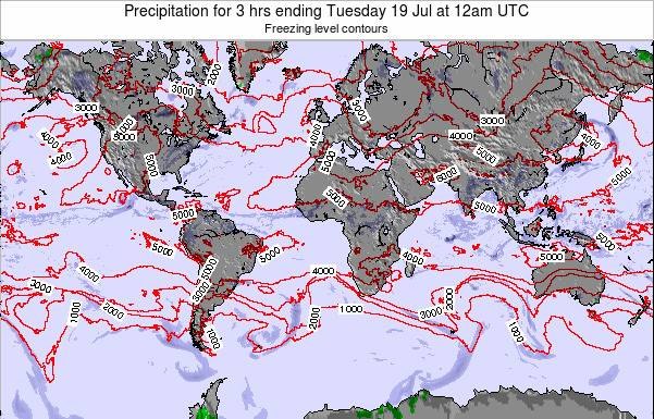 Global-Atlantic Precipitation for 3 hrs ending Tuesday 17 Dec at 6am UTC