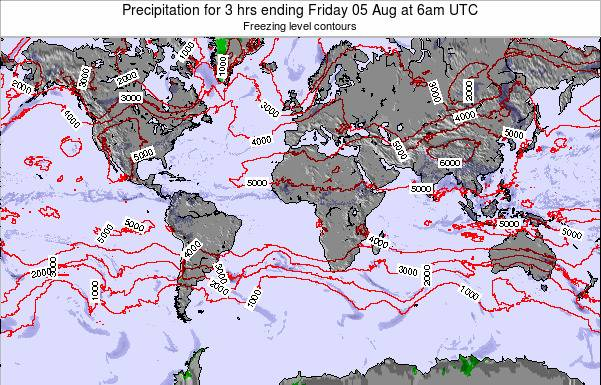 Global-Atlantic Precipitation for 3 hrs ending Saturday 07 Dec at 12pm UTC