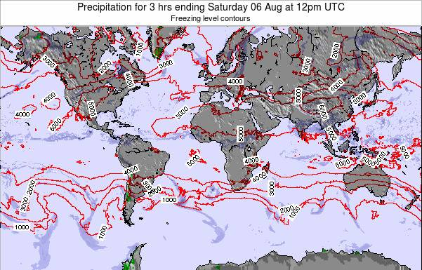 Global-Atlantic Precipitation for 3 hrs ending Saturday 18 May at 12pm UTC