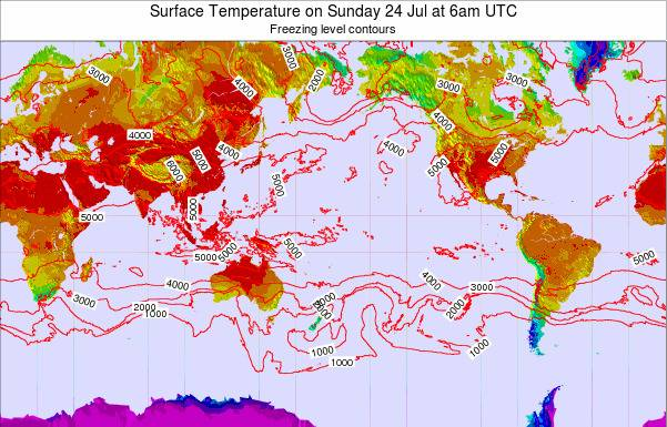 Global-Pacific Surface Temperature on Thursday 23 May at 6pm UTC