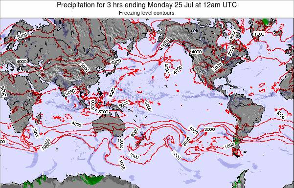 Global-Pacific Precipitation for 3 hrs ending Sunday 19 May at 6am UTC